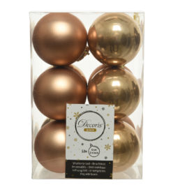 Palline Bronze • 12 pz • 6 cm