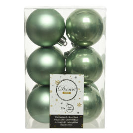 Palline Green • 12 pz • 6 cm