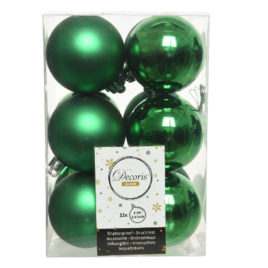 Palline Green Brillant • 12 pz • 6 cm