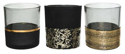 Porta tealight nero/oro assortiti – 1 pz