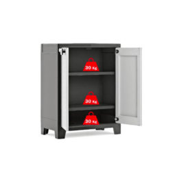 armadio basso nero/grigio