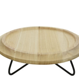 Alzatina bassa in legno