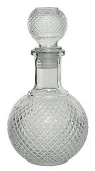 bottiglia tonda vetro trasparente
