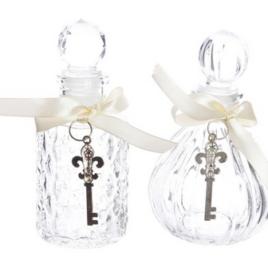 bottiglia vetro ass. con chiavi oro