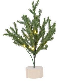 albero con luci a batteria