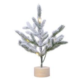 Albero mini con luci e neve • 30 cm