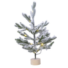 Albero mini con luci e neve • 45 cm