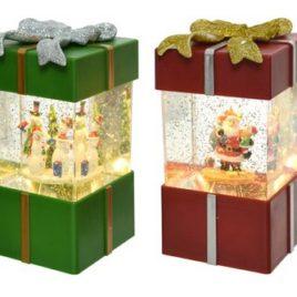 Pacco regalo a batteria- babbo – pupazzo- neve e luce led