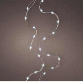filo metallico argento microled luce fredda