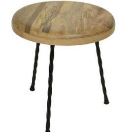Tavolino mango con gambe in metallo