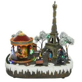 Parigi illuminata con movimento e musica