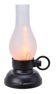 Lanterna luminosa effetto fiamma – nera