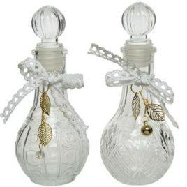 Bottiglietta in vetro con nastrino