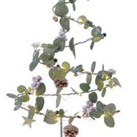 Albero stilizzato eucalipto e bacche lilla