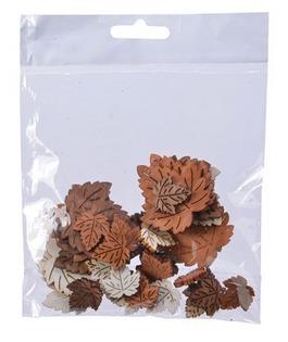 Busta con foglie decorative assortite