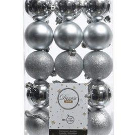 Confezione 30 pallina dia. 6 cm – argento assortito