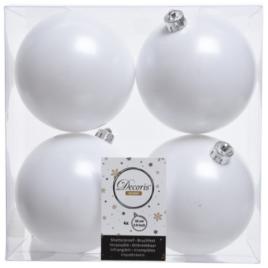 Confezione 4 palline bianco inverno diam. 10 cm