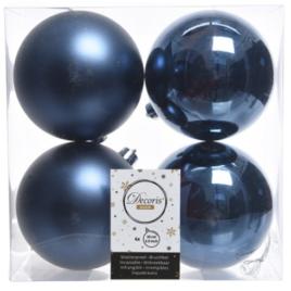 Confezione 4 palline blu notte diam. 10 cm