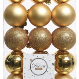 Confezione 30 palline oro diam. 6 cm