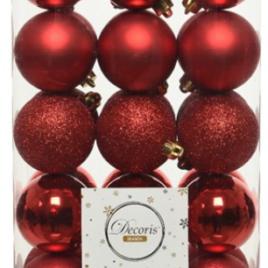 Confezione 30 palline rosse diam. 6 cm