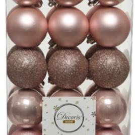 Confezione 30 palline rosa diam. 6 cm
