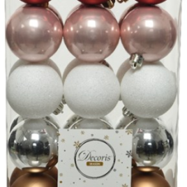 Confezione 30 palline diam. 6 cm made with love