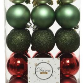 Confezione 30 palline diam. 6 cm christmas classic