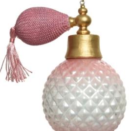Ornamento vetro champagne assortito con glitter