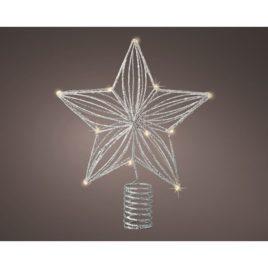Puntale microled a stella h 25 12 led luce naturale