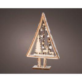 Albero luminoso cm 43 10 luci assortito