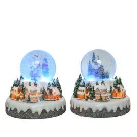 Villaggio luminoso con globo h cm 20