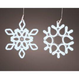 Fiocco di neve cm 27×34 neonflex luce fredda