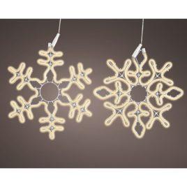 Fiocco di neve cm 50 neonflex luce naturale