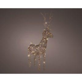 Cervo per esterno cm 104 marrone luce bianca