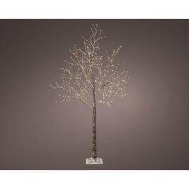Albero rami marroni h cm 180 600 led luce calda