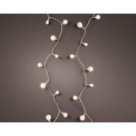 Luci 120 led metri 9 a ciliegia filo trasparente luce calda per esterno