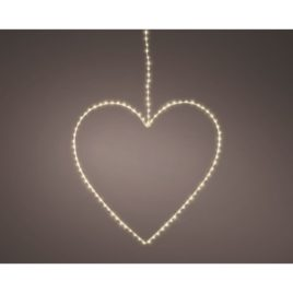 Cuore d.38cm 120 microled luce naturale
