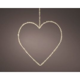 Cuore d.58 cm.160 microled luce naturale