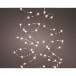 Led 240 con scintille metri 12 filo silver luce calda bianca