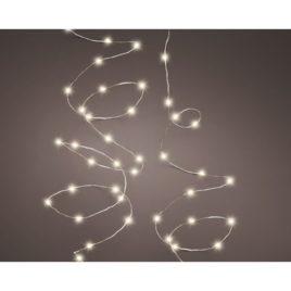 Luci 100 led metri 4,90 filo silver luce bianca calda
