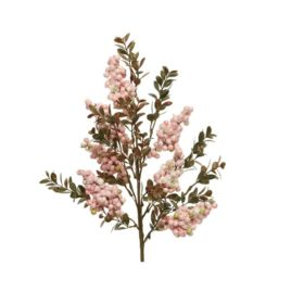 Ramo bacche rosa h.65 cm.