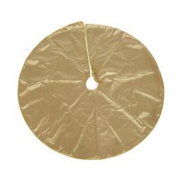 Base albero in tessuto oro d.120