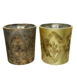 Porta tealight in vetro assortito d.5,5cm