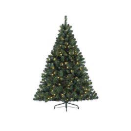 Albero verde 460led luce calda h.240 cm.