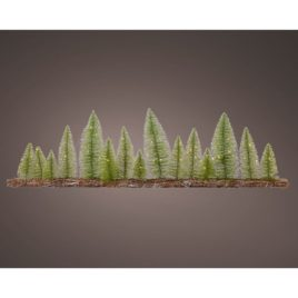 Base in legno con mini alberi 60led cm100