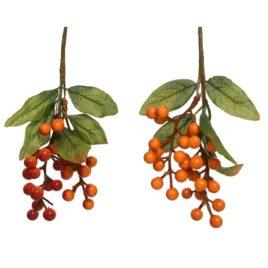 Bacche arancioni da appendere h.22cm