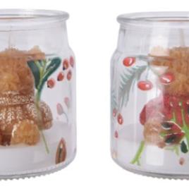 Vasetto con candela vetro orsetti assortiti