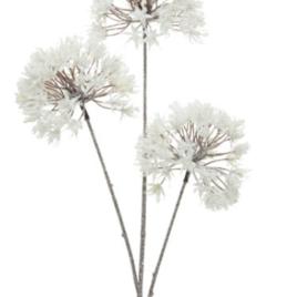 Fiori bianchi ghiacciati cm 80