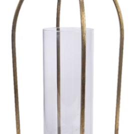 Lanterna metallo oro 15×15 h 37 cm