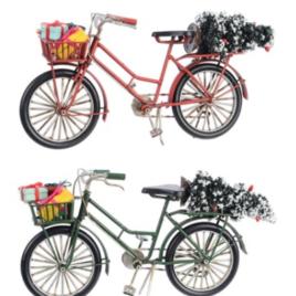 Bicicletta metallo cm 26,5 h 12,5 cm assortito